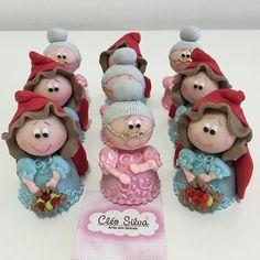 Chocolates, Cupcakes Decorados, Sugar Craft, Fondant Figures, Pasta Flexible, Red Riding Hood, Something Sweet, Little Red, Rice Krispies