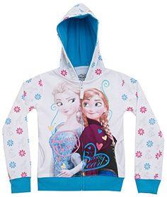 Disney Little Girls' Frozen Elsa and Anna Strong Bond.Strong Heart Hoodie  White  5/6