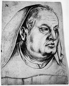 """Hans Holbein den Ældre (tilskrevet), Brystportræt af Hans Griesherr, """"Großkellner"""" ved Skt. Ulrich & Afra i Augsburg (Augsburg, 1514-15, Statens Museum for Kunst, København)."""
