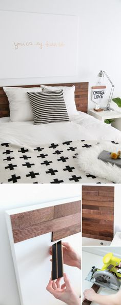 DIY // Ikea Hack Stikwood Headboard                                                                                                                                                      More