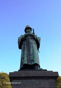 Rogaland - Stavanger - Skulptur - Alexander Kielland, på Torget