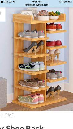 Schuhaufbewahrung Entryway shoe storage hacks that really work shoes shoes Garage Shoe Storage, Shoe Storage Hacks, Entryway Shoe Storage, Bench With Shoe Storage, Storage Ideas, Shoe Shelves, Wood Shoe Rack, Diy Shoe Rack, Shoe Racks