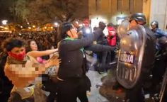 """""""Video: Violent mob of pro-abort feminists assaults praying men, tries to burn Cathedral""""  Pray for these women.  #prochoice #prolife #feminist #feminism #prayer"""