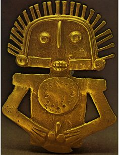 The original piece from a Pre-Columbian artifact