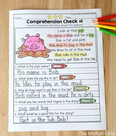 Reading Comprehension Checks for September- Build confidence in beginning and struggling readers with these short stories, while teaching students to find text evidence to support their answers.