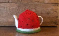 WATERMELON TEA COZY, Knit Watermelon Tea Cosy, Handmade Fruit Teapot Cozy