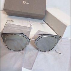 527c0ea69f3 Christian Dior sunglasses composit 1.0 Authentic Christian Dior composit  1.0 sunglasses in silver
