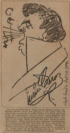Self portrait by Enrico Caruso, 1904