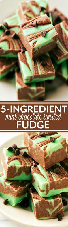 MICROWAVE Chocolate & Mint Swirled Fudge
