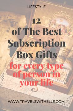 Some of the coolest subscription boxes on the market today, with many of them being my personal favorites. You'll find something for everyone on your list.