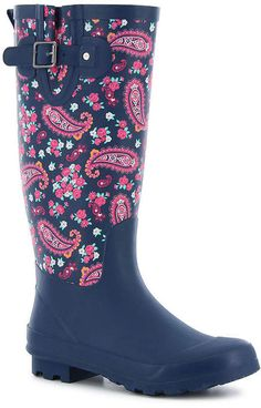 Western Chief Womens Classic Tall Plesant Paisley Rain Boots Waterproof Buckle #affiliate #western #rainboot