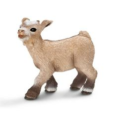 "Schleich® Farm Life Collection ""Dwarf Goat Kid"" figurine. For the barn scene...will have him trailing the milkmaid carrying her two buckets of milk!"