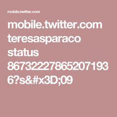 mobile.twitter.com teresasparaco status 867322278652071936?s=09