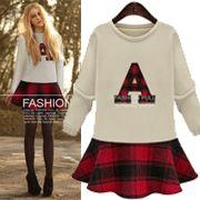 字母A格紋拼接傘襬上衣 Top Sales, Graphic Sweatshirt, Sweatshirts, Sweaters, How To Wear, Tops, Fashion, Moda, Pullover