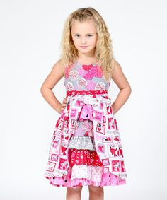 Another great find on #zulily! Pink Love Letter Hannah Dress - Infant, Toddler & Girls #zulilyfinds
