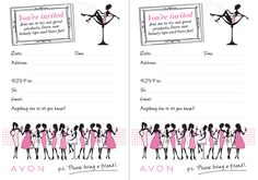 AVON Cocktail party invite! :)