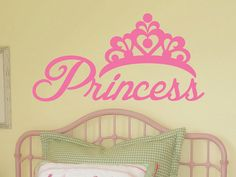 Princess Vinyl Wall Decal by WallJems.