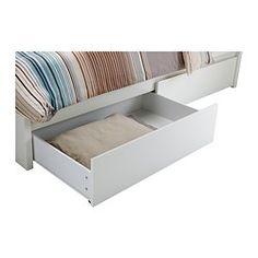 MALM Sängstomme, hög, med 4 sänglådor - 160x200 cm - IKEA