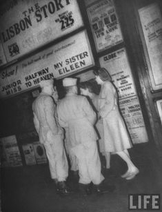 Pictures of London wartime nightlife under blackout conditions, 1944.