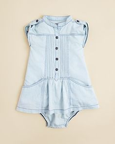 DKNY Infant Girls' Denim Dress & Bloomers - Sizes 12-24 Months | Bloomingdale's
