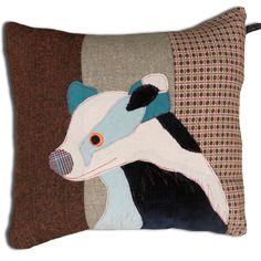 Badger Cushion by Carola van Dyke