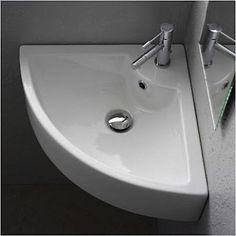 Scarabeo Square Wall-Mounted Corner Sink and other small attractive sinks