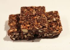 paleo chocolate bars - add some fiber powder in there and you've got home-made fiber one bars!