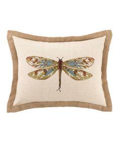 Beautiful Wings Damselfly Pillow by Peking Handicraft #zulily #zulilyfinds