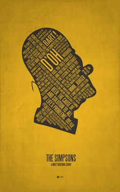 The Simpsons Typography Art Print