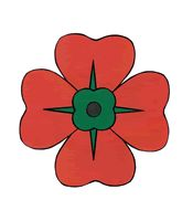 Poppy paper craft, includes template