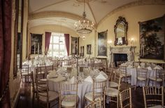 A view of the reception room at Luttrellstown Castle. Irish Wedding, Reception Rooms, Photography Services, Wedding Shoot, High Quality Images, Castle, Wedding Photography, Ceiling Lights, Weddings
