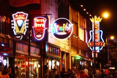 Beale Street, Memphis, TN   Pretty cool place to visit- loved the blues environment. (visited 2010 & 2014)