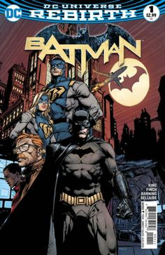 COMIC BOOK:BATMAN # 1 (Vol III) 2016. DC COMICS. WRITER: Tom King. ARTIST: David Finch. COVER PRICE: $2.99. CHARACTER(S) Batman, Commissioner Gordon,  Duke Thomas, Gotham Girl, Gotham.  NOW PRICE: $11.00. CONDITION: Near Mint.