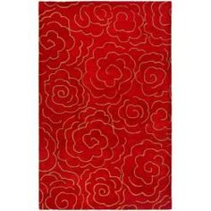 @Overstock - Handmade Soho Roses Red New Zealand Wool Rug (6' x 9') - Give your floor an alluring, romantic look with this red New Zealand wool rug with an all-over rose motif. This thick rug features a half-inch pile that is luxurious beneath your bare feet and that adds warmth and coziness to hardwood or tile floors. http://www.overstock.com/Home-Garden/Handmade-Soho-Roses-Red-New-Zealand-Wool-Rug-6-x-9/6337242/product.html?CID=214117 $278.99