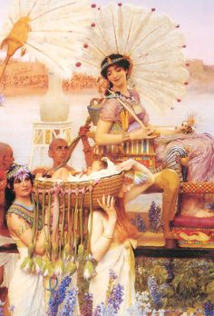 Lawrence Alma-Tadema. Detail from The Finding of Moses, 1904.