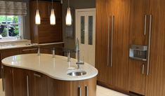 Used Luxury Solid Walnut Kitchen with Gaggenau Appliances - Ex Display Kitchens For Sale Solid Walnut, Integrated Fridge, Luxury, Gaggenau Appliances, Appliances, Walnut, Kitchen, Walnut Kitchen, Kitchen Sale