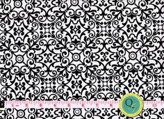 Designer Fabric By the Yard Black and White by QuiltingGarden, $7.49