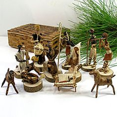 A Nativity Set made from Banana Fiber in Kenya.  I love thinking of the missionaries that showed the people of Kenya how to make something to sell and at the same time told the story of our Savior's birth.  :)