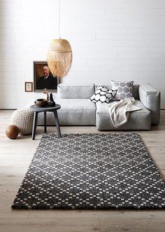 Helle, ruhige Räume mit Mustern aufpeppen