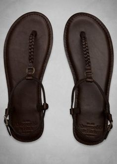 Genuine Leather Flip Flops