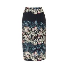 TopShop Flower Border Wrap Midi Skirt ($29) ❤ liked on Polyvore featuring skirts, black, wrap skirt, flower print skirt, floral print skirt, floral midi skirt and floral knee length skirt