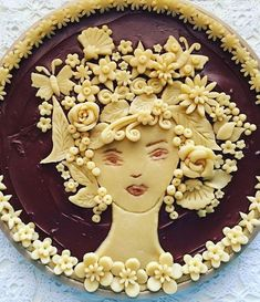 Pie Crust Recipes, Pastry Recipes, No Bake Desserts, Just Desserts, Creative Pie Crust, Beautiful Pie Crusts, Pie Crust Designs, Pie Decoration, Pastry Art