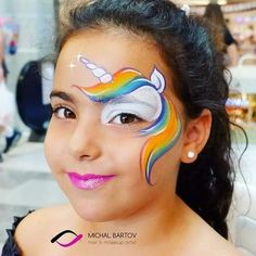 I am loving the work of Michal Bartov ! This dainty unicorn eye design is beautiful! Thanks for letting us share your… Face Painting Images, Face Painting For Boys, Face Painting Designs, Unicorn Eyes, Unicorn Facepaint, Face Painting Unicorn, Face Paint Makeup, The Face, Troll Face