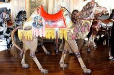 Camel on the Kit Carson County Carousel in Burlington Colorado.