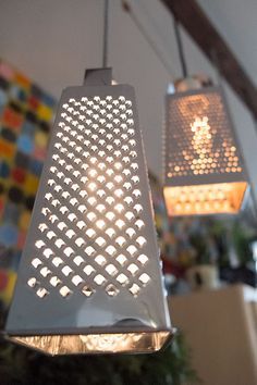 luminaire râpe #upcycling -  boutique vintage et fleuriste Chez Marguerite ( Aytré, France)