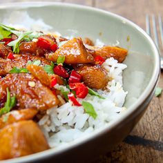 Sweet & Sticky Teriyaki Chicken with Jasmine Rice.