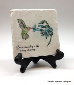 Stampin' Up! Song of Spring Friendship Tile