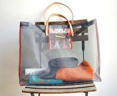 DIY Mesh Screen Beach Bag #diy #summer
