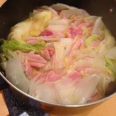 豚バラの変わりにオーストラリアのハムを使いました。 - 11件のもぐもぐ - オーストラリア産のハムと白菜の鍋 by 460S