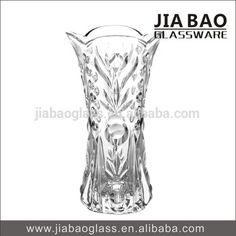 High white Clear Big Glass Vase in Bohemia style